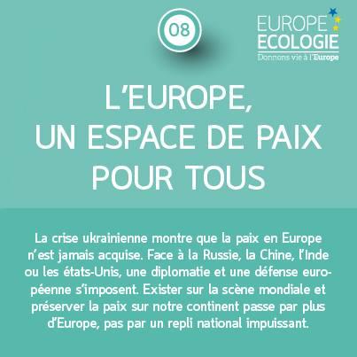 L'Europe un espace de paix pour tous
