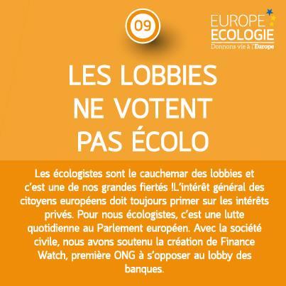 Les lobbies ne votent pas écolo